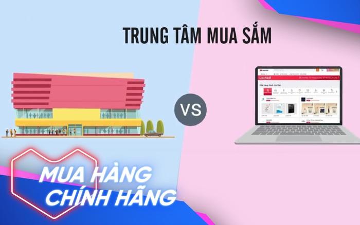 Thuộc tên đủ loại hàng hiệu nhưng bạn có để ý sự khác biệt giữa trung tâm thương mại truyền thống và online?