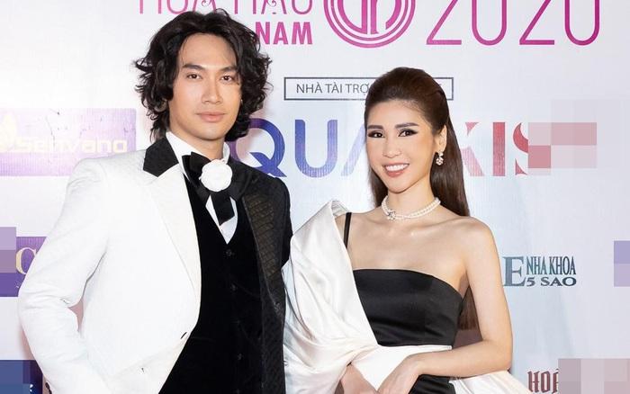 CEO Lâm Ngân sánh đôi Lý Quí Khánh trên thảm đỏ Hoa hậu Việt Nam