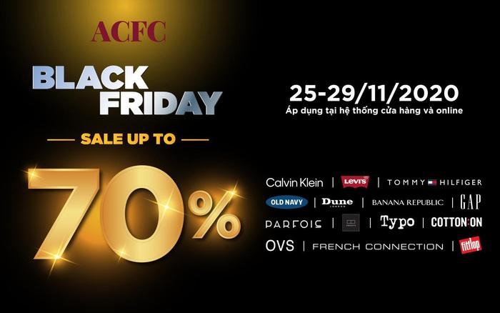 ACFC Black Friday - bùng nổ siêu ưu đãi giảm đến 70% từ các thương hiệu đình đám