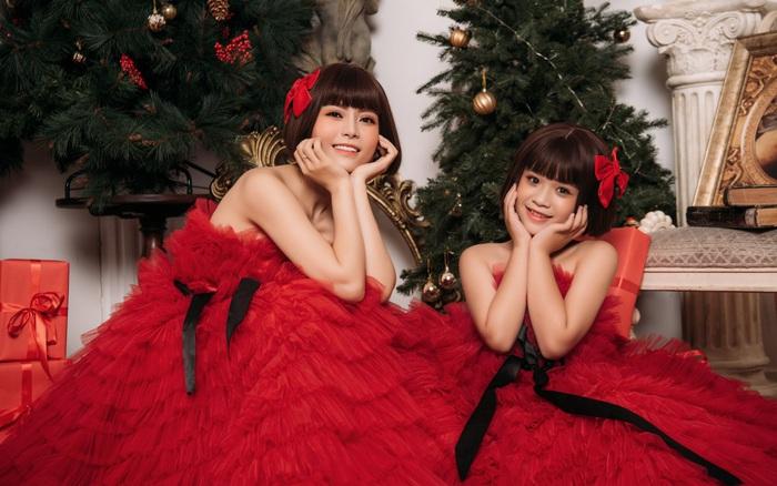 Model Kid Katherin Minh Vy và ca sĩ Đỗ Kim Thành hóa chị em trong bộ ảnh Noel