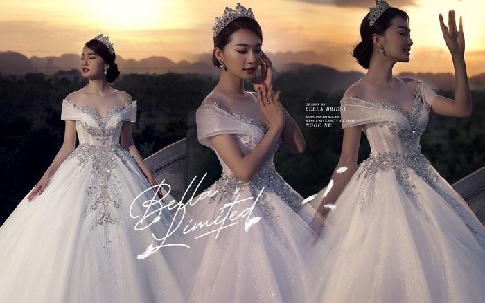 Hoa hậu ảnh Ngọc Nữ diện váy cưới kim cương trị giá gần 1 tỷ đồng hóa ...