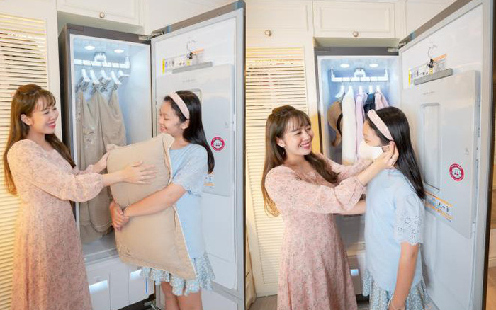 Khám phá cách MC Diệp Chi chăm sóc quần áo cho gia đình