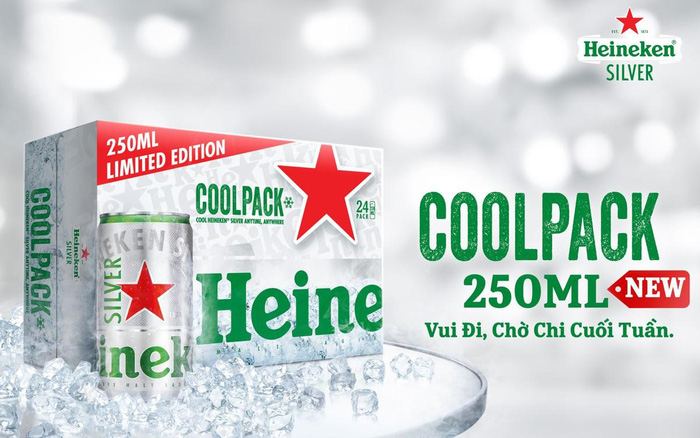 Heineken Silver ra mắt phiên bản giới hạn Cool Pack 250ml - làm lạnh cực nhanh, cho đêm vui giữa tuần trọn vẹn