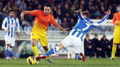 Barca áp đảo Sociedad trong quá khứ khi thắng 95 trận, hòa 40 và thua 34 trận